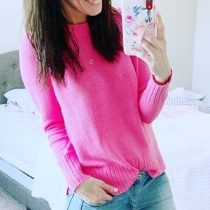 OLD NAVY Rib Knit Trim Sweater Pullover Pink M
